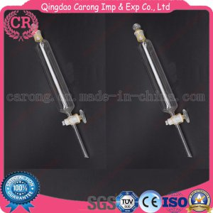 Cylindrical Shape Glass Separatory Funnel for Lab Use