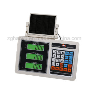 Weighing Price Indicator with ABS Plastic Solar Panel